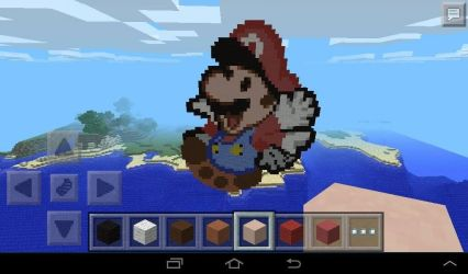 Mario - minecraft pixel art by Rest-In-Pixels