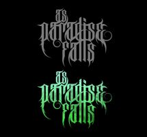 AS PARADISE FALLS logotype by isisdesignstudio