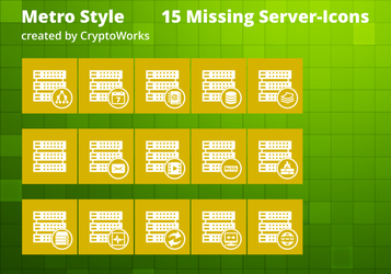 15 Missing Server-Icons Metrostyle by CryptoWorks