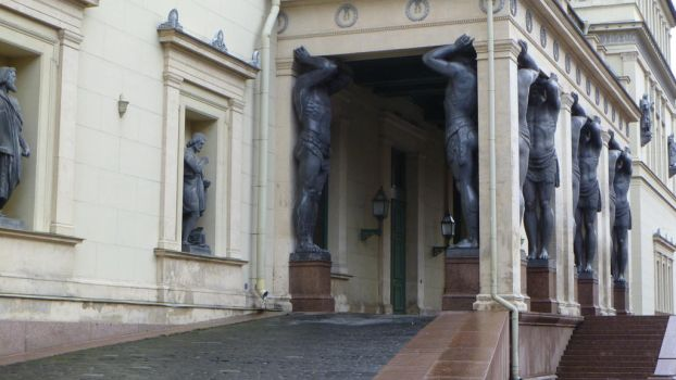 Portico of the New Hermitage by 4ajka