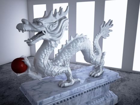 Cinema 4D Vray -- Dragon by SMOKEYoriginalHD
