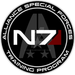 Mass Effect N7 Training Program Custom Logo