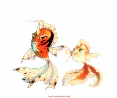 Seaking and Goldeen