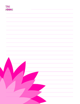 Pink Flower Sheet by TrainerKelly