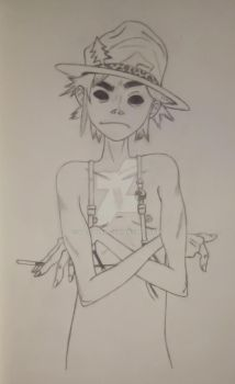 2D with Hat [Sketch] by 2D-Dipper