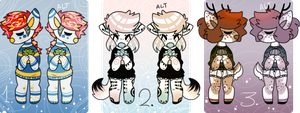 AUCTION Anthros Adopts [CLOSED 0/3] by SinnerPen