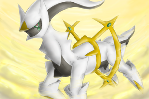 Arceus - Shining Forest art by nintendo-jr
