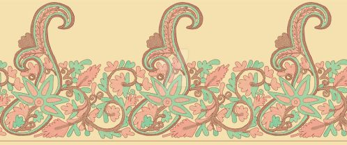 Embroidery Effect Printed Border by jalilhyder
