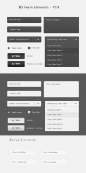 KS Form Elements PSD by Kan412