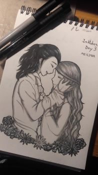Inktober Day 3 - Romeo and Juliet by Meilyna