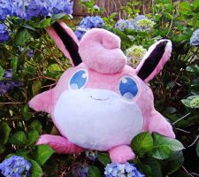Wigglytuff and Hydrangeas!
