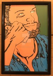 Smiling Sam Duct Tape Art by DuctTapeDesigns