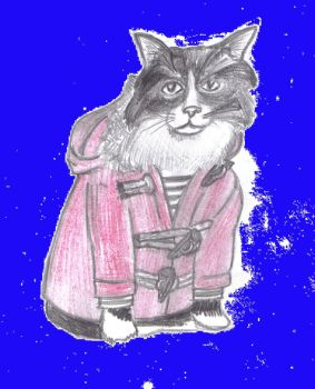 Kitty In A Dufel Coat by therealmoshmonkey