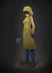 Yandere Simulator: Raincoat by Druelbozo