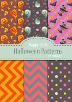 Happy Little Halloween Patterns by Adreean