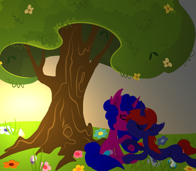 Under the Tree - Request by ArcticLeapordFrost