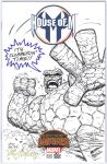 THE THING Sketch Cover Art HAZLEWOOD  Kolins/DH by DRHazlewood