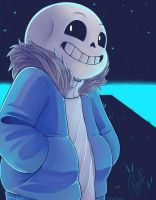Sans - Waterfall by NeykStar