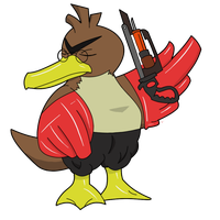 TF2 Pokemon - Medic Farfetch'd by Jestermation