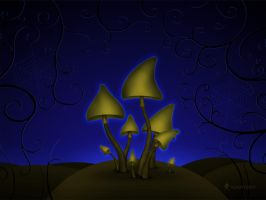 Mushrooms - Halloween Night by vladstudio