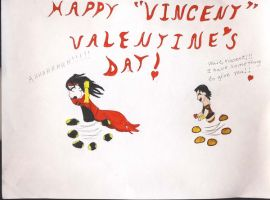 Vincent Valentine's Day by Midorii-kiri
