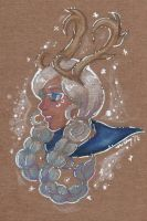 Winter Wind Sailor Blue Lace Agate Caribou by nickyflamingo