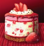 Deep Red Strawberry Cheesecake by ScarletWarmth