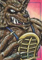 Rahzar sketch card by JLWarner