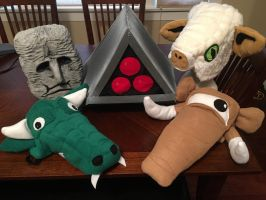 SPACE HARRIER Hat Set by tacksidermia