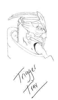 Turian Side Shot Rough Draft by TriggerTrav