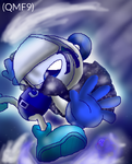 im blue.(mighty and kirby) by qeva