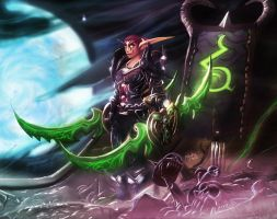 Night elf warrior , with WarGlaives by maxfxgr