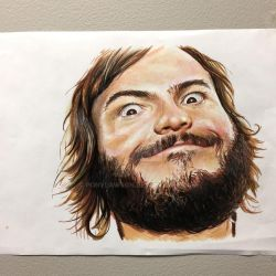 Jack Black Drawing by Pony Lawson by PonyLawson