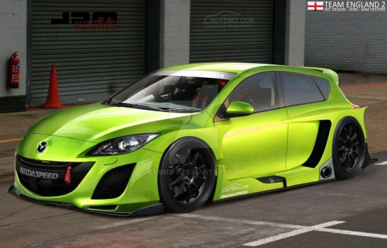 Mazda 3 MPS :Team England 2: by Zer0Gfx