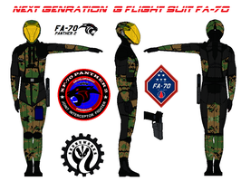 Next Genration  G flight suit FA-70   marpat woodl by bagera3005