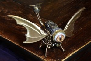 Steampunk Dragon Drone by CatherinetteRings