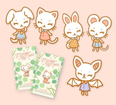 Kitten Puppy and Friends Enamel Pins by Lumichi