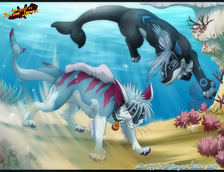 .:Collab:. Okeanos and Mojo by Strawberry-Loupa