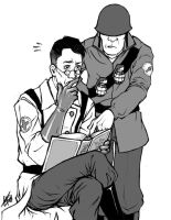 - TF2 - Medic and Soldier - by skatanic