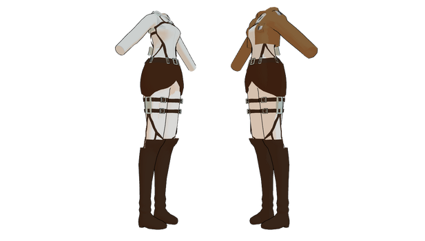 MMD ATACK ON TITAN Female Uniforms by mbarnesMMD