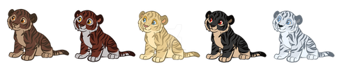 Tiger Cubs (Closed) by ChiOchiAdopts
