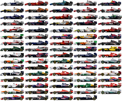 Formula 1 cars 2007-2013 by pieczaro