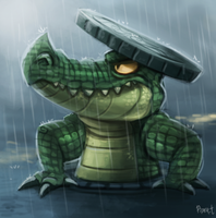 DAY 153. Manhole Gator (25 Minutes) by Cryptid-Creations