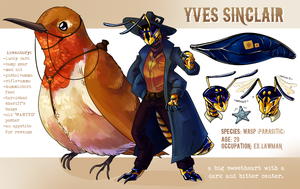 Yves Sinclair - Ref Sheet by flatw00ds