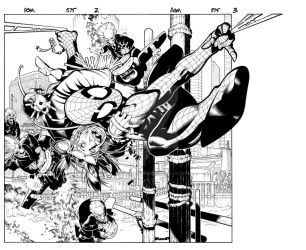 Amazing Spider Man 575 spread by TimTownsend