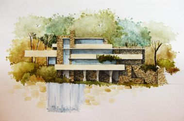 Fallingwater House by Blueberry-Kid