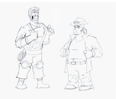 Mad Max n Crazy Carl clothes swap by Menaria