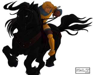 Phoebus And Frollo's Horse by Senshee