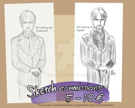 Sketch Commissions by Seiga