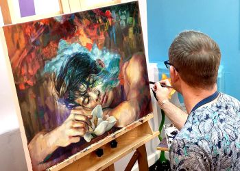 Time Lapse Expressive Oil Painting Male Portrait by paulypants